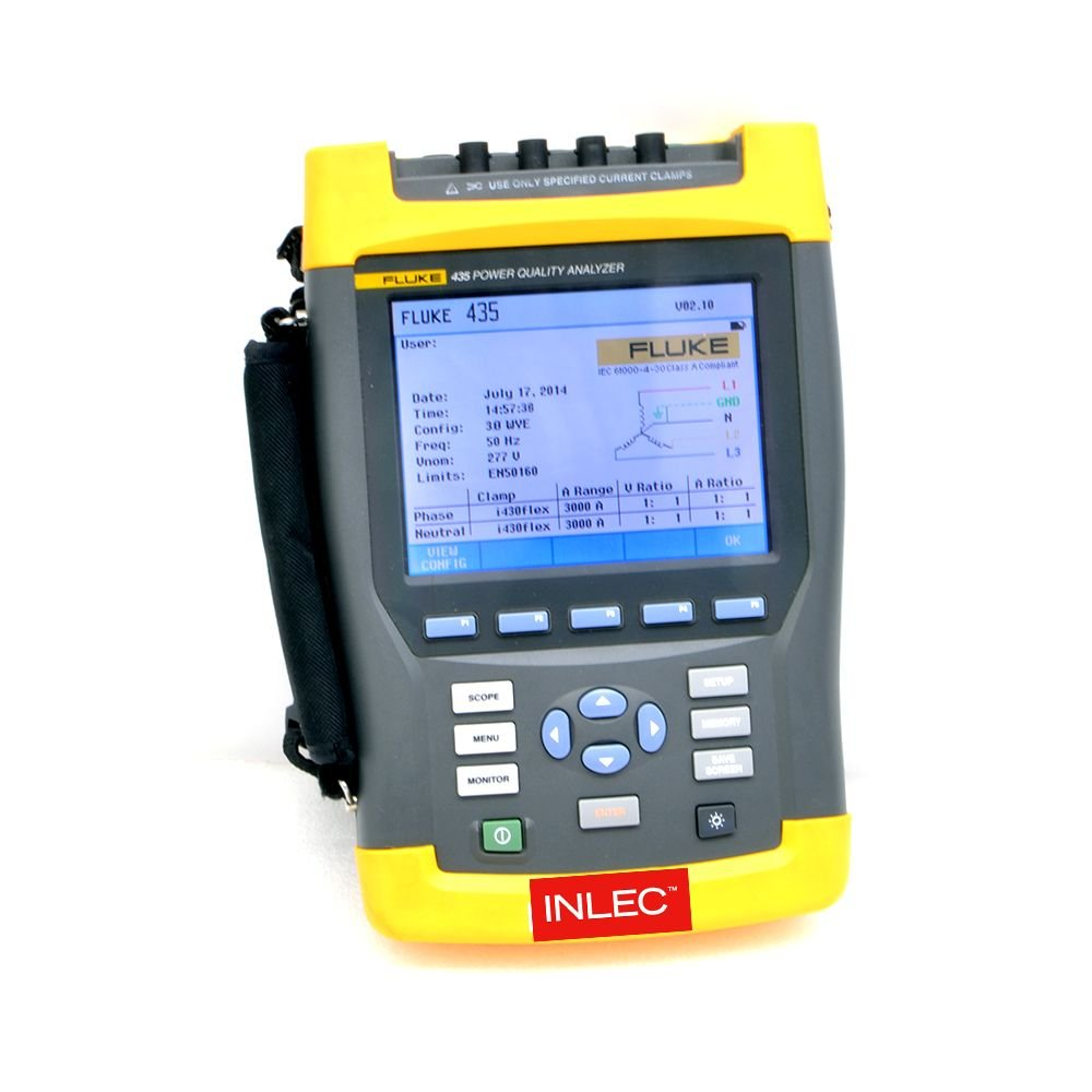 Fluke 435 Series 2 Power Quality Analyser Hire Inlec