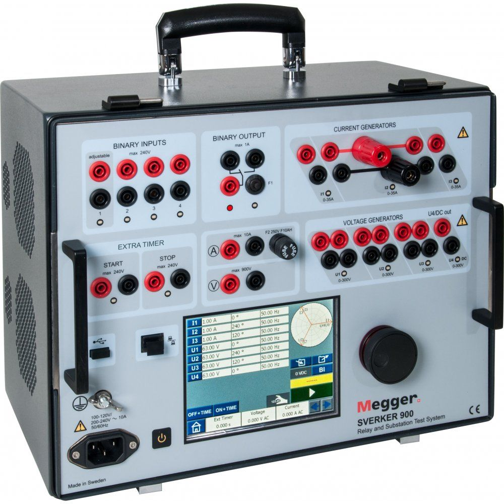 Megger sverker 900 relay and substation test system hire for Electric motor testing equipment