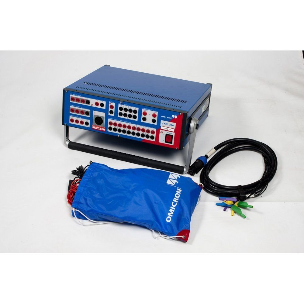 Omicron Cmc 356 Relay Test Set Hire Inlec Current Check Cmc356 With Advanced Protection Software
