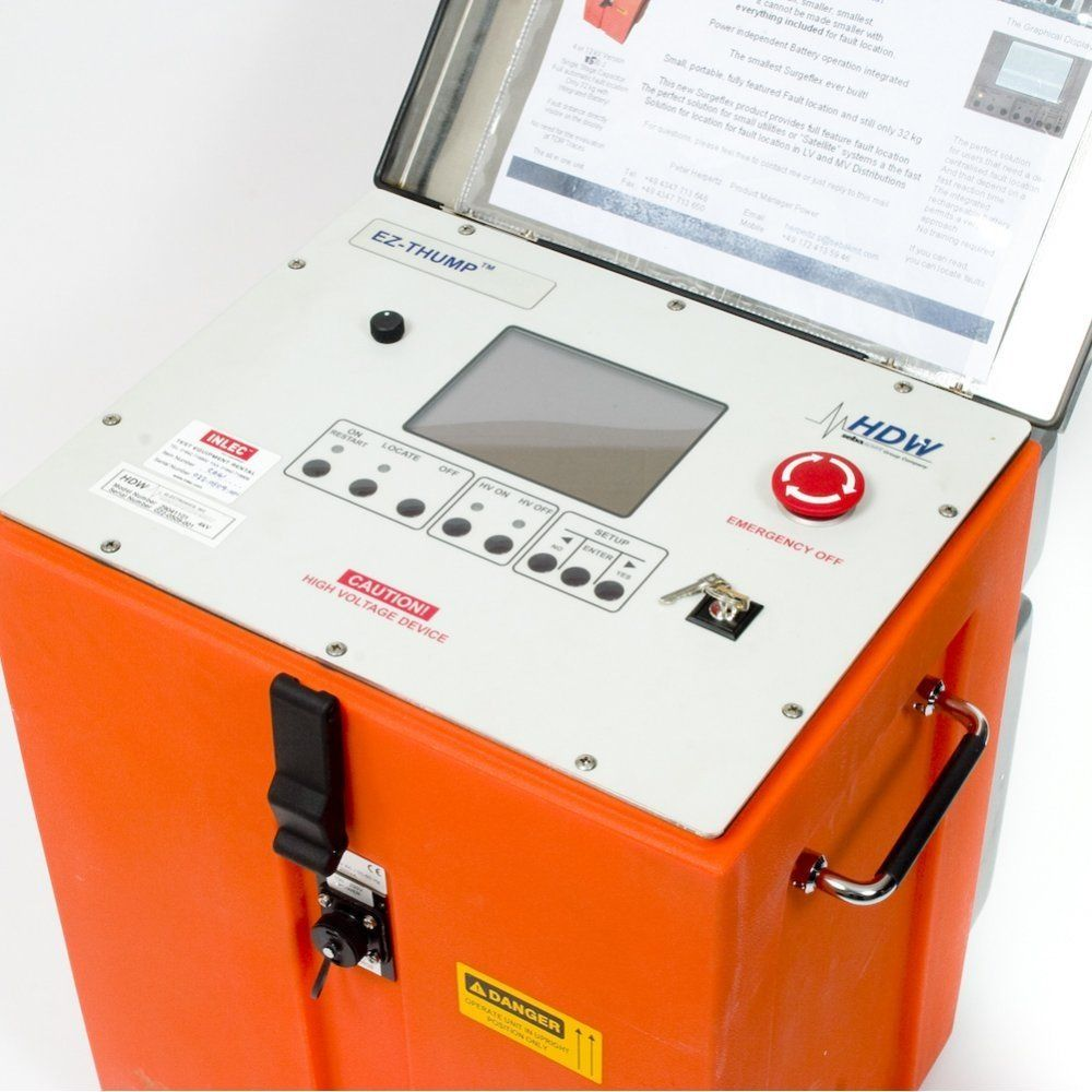 Cable Fault Locator And Thumpers : Sebakmt ez thump cable fault locating system hire inlec