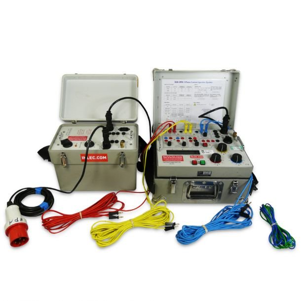 T and R Test Equipment 50A 3PH Current Injection Test Set with 50A 3PH DSU Delta-Star Supply Transformer Kit