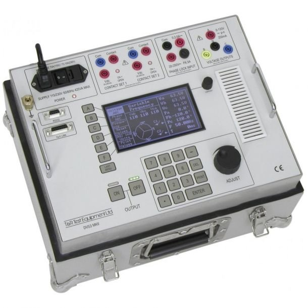 T and R Test Equipment DVS3-HP Three Phase Digital Voltage Source with DVS 1_2.2 Step Up Transformer