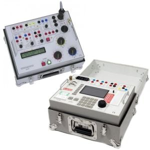T&R DVS3 MK2 3PH Digital Voltage Source, DVS 1_2.2 Step Up Transformer & 50A 3PH Current Injection Test Set
