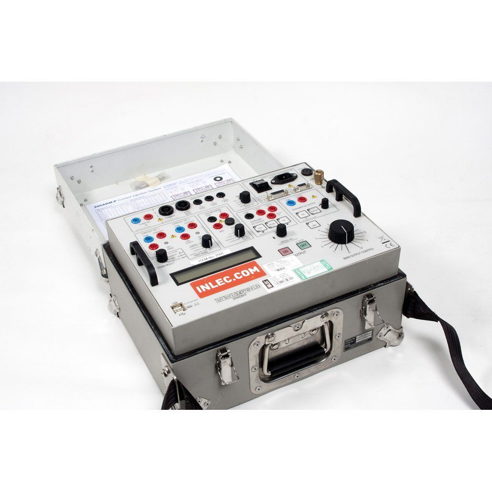 T and R Test Equipment 200ADM Current Injection Test Set test many types of  single phase secondary protection