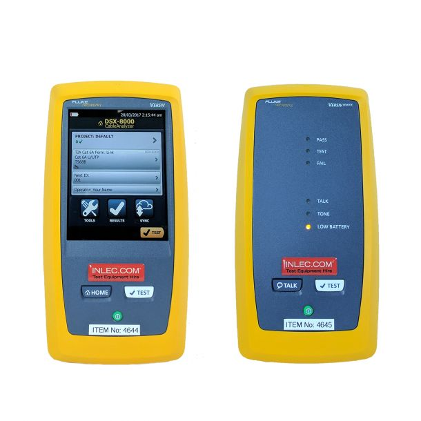 Fluke DSX 8000 CAT8 Cable Analyzer with Quad Modules (For Multimode + Single-mode)