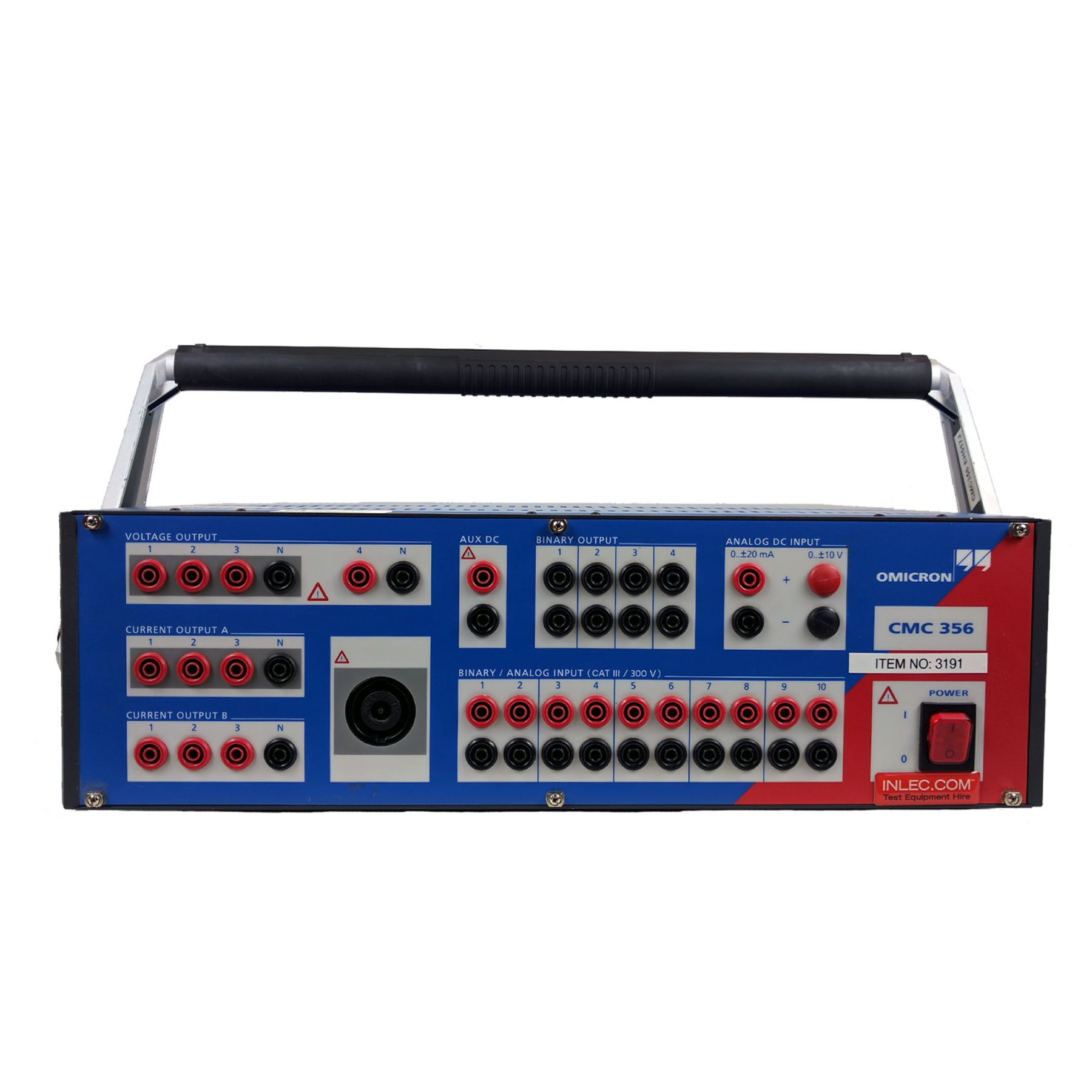 Omicron Cmc 356 Relay Test Set Hire Inlec Current Input Cmc356 With Advanced Protection Software