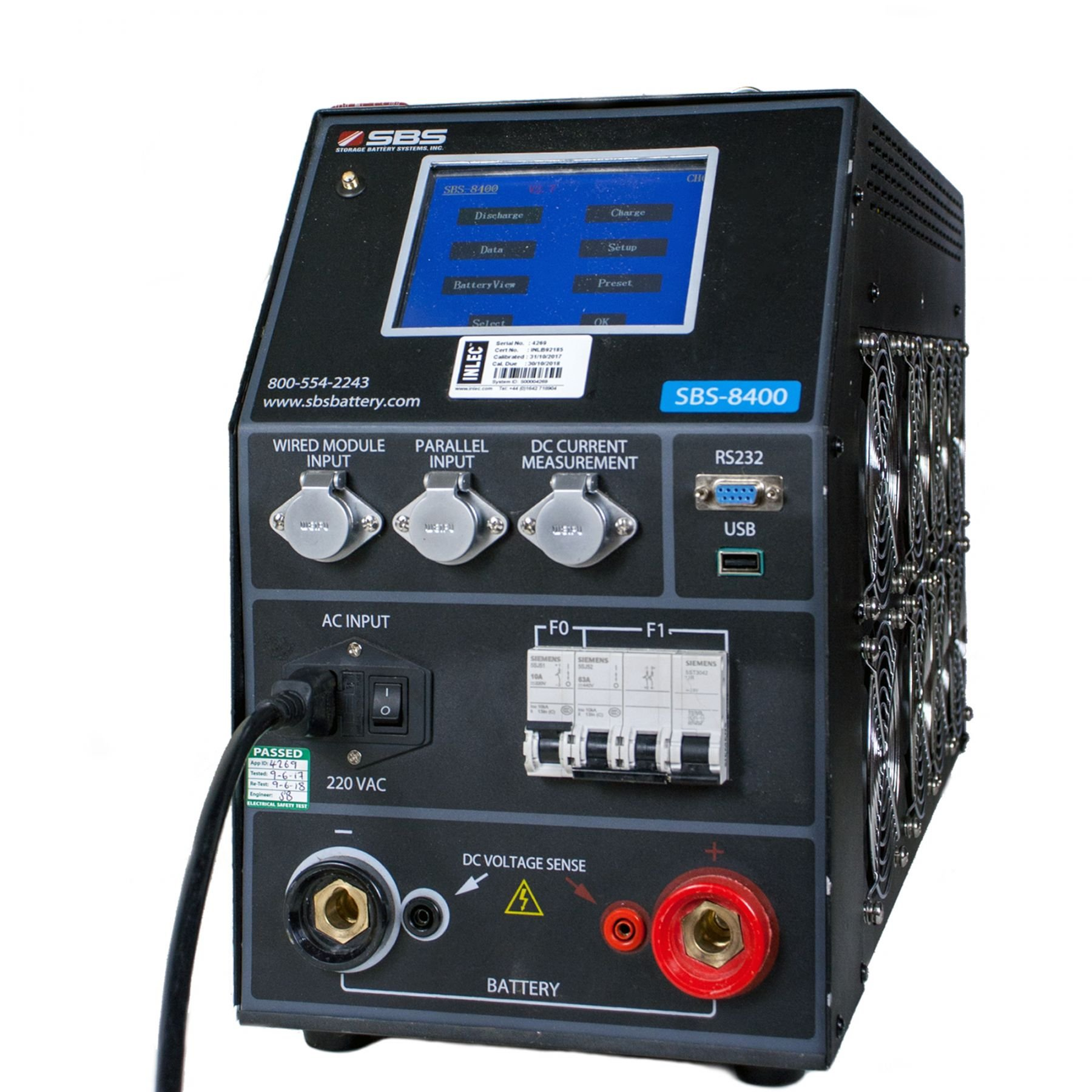 Sbs 8400 Battery Capacity Tester With Monitoring Hire