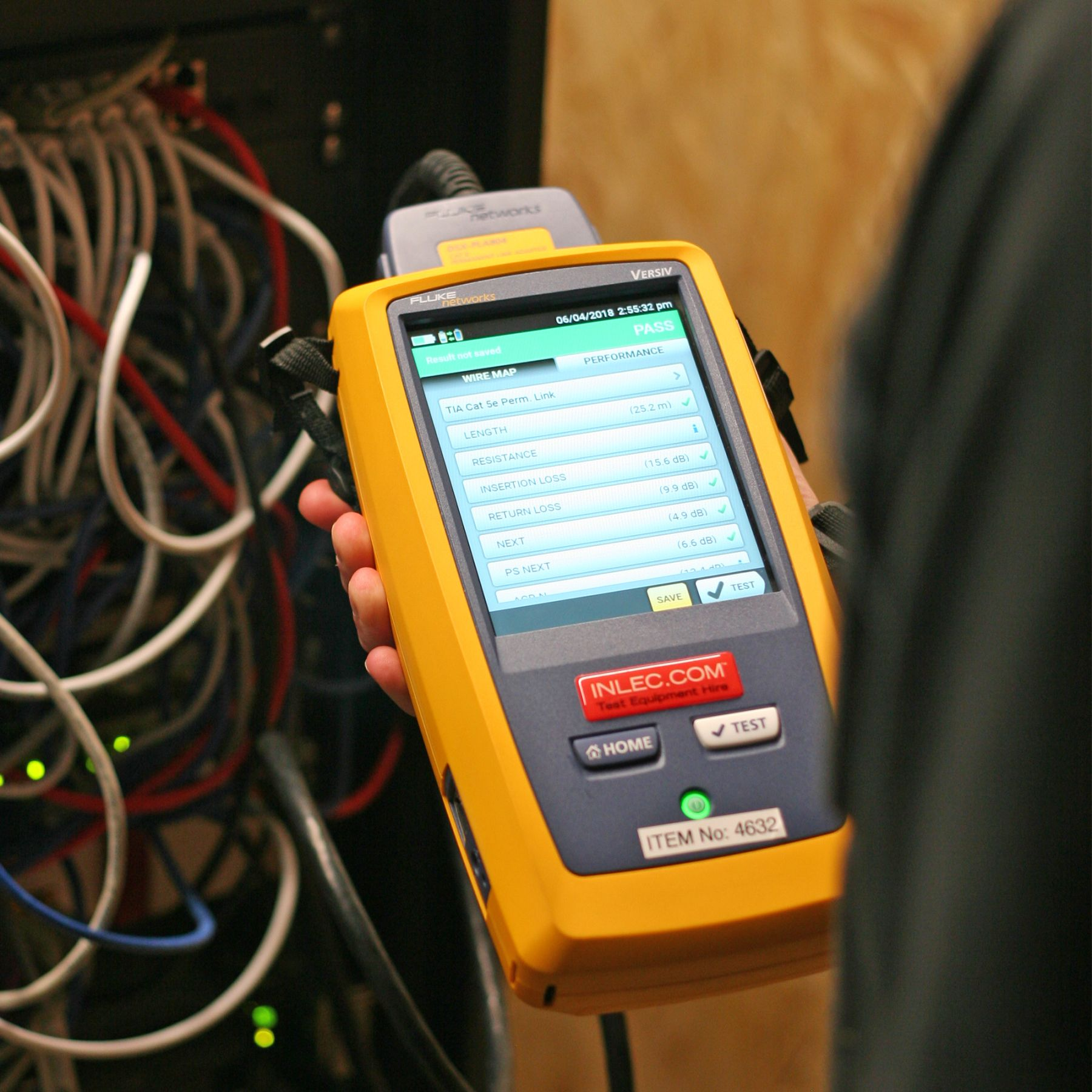 Fluke Dsx 8000 Cable Analyzer Next Day Delivery Hire