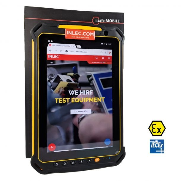 I.Safe Mobile Tablet IS910.2 ATEX Zones 2/22 with ATEX Camera